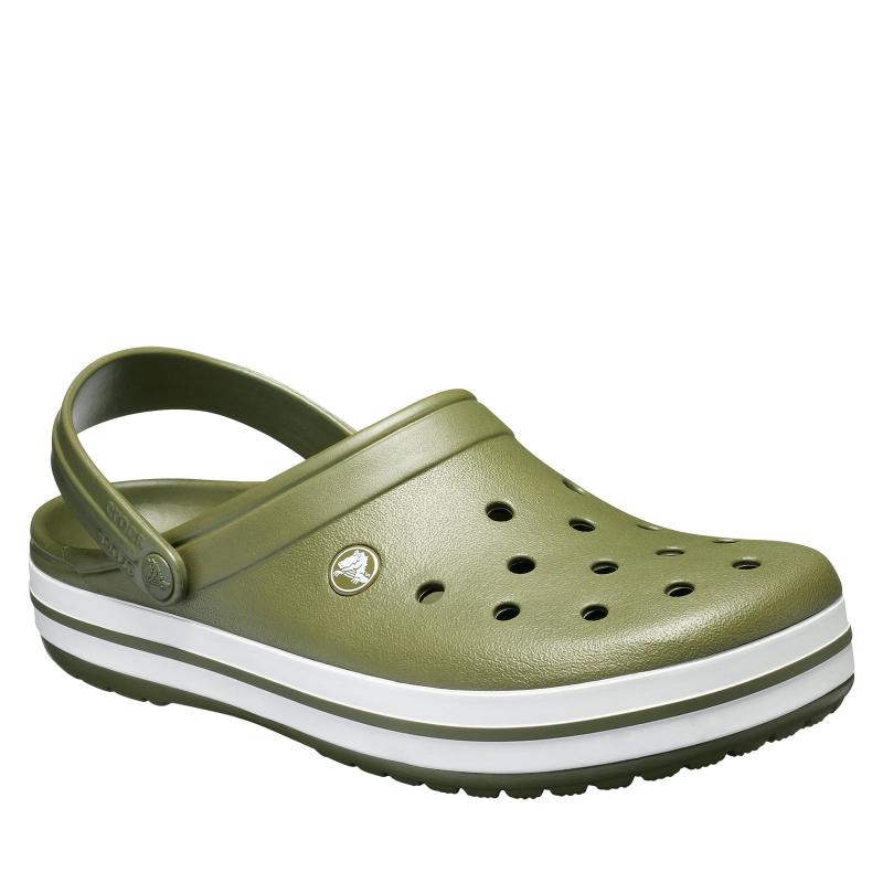Kroksy (rekreačná obuv) CROCS-Crocband army green -