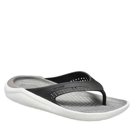 Obuv k bazénu (plážová obuv) CROCS-LiteRide Flip black/smoke