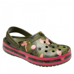 Kroksy (rekreačná obuv) CROCS-Crocband Seasonal Graphic Clog army green/melon