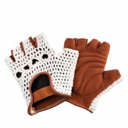 Dámske cyklistické rukavice LE GRAND-CYCLING GLOVES CITY STITCH BEIGE