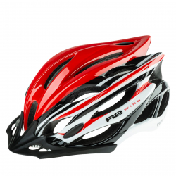 Cyklistická prilba R2-WIND - red, white, black / shiny