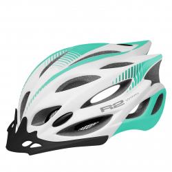 Cyklistická prilba R2-WIND - white, mint green / matt