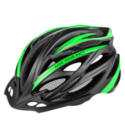 Cyklistická prilba R2-ARROW - black, green / matt
