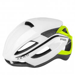Cyklistická prilba R2-AERO - white, neon yellow / shiny