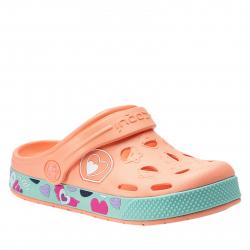 Detské kroksy (rekreačná obuv) COQUI-Froggy coral hearts
