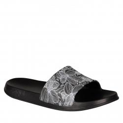 Dámska obuv k bazénu (plážová obuv) COQUI-Tora Printed black blooming flowers