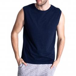 Pánske tričko bez rukávov VOLCANO-T-TANK Blue dark