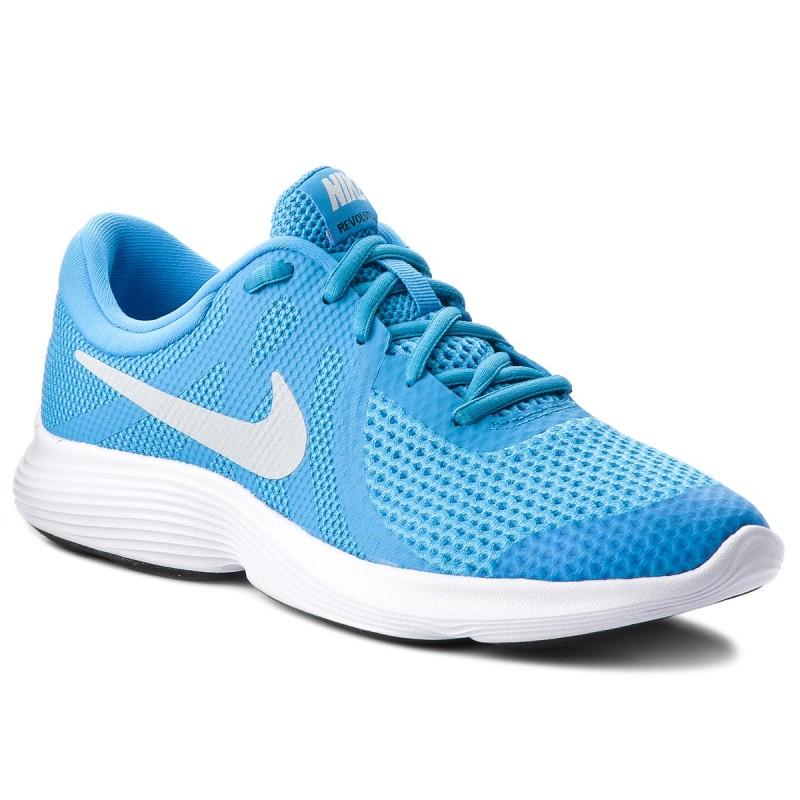 Juniorská športová obuv (tréningová) NIKE-Revolution 4 blue hero/pure platinum/blue glow/black -