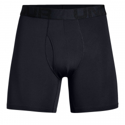 Pánske boxerky UNDER ARMOUR-Tech Mesh 6in 2 Pack-BLK