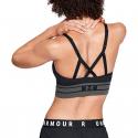 Dámska tréningová športová podprsenka UNDER ARMOUR-Seamless Longline Bra-BLK -