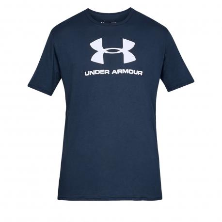 Pánske tréningové tričko s krátkym rukávom UNDER ARMOUR-SPORTSTYLE LOGO SS-NVY