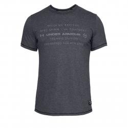 Pánske tréningové tričko s krátkym rukáv UNDER ARMOUR-SPORTSTYLE TRIBLEND GRAPHIC-BLK