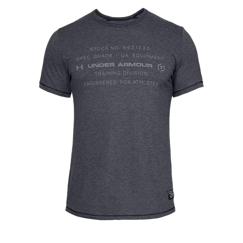 038eeb36f93a Pánske tréningové tričko s krátkym rukáv UNDER ARMOUR-SPORTSTYLE TRIBLEND  GRAPHIC-BLK -