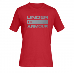 Pánske tréningové tričko s krátkym rukáv UNDER ARMOUR-UA TEAM ISSUE WORDMARK SS-RED