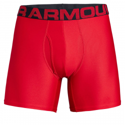 Pánske boxerky UNDER ARMOUR-Tech 6in 2 Pack-RED