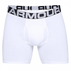 Pánske boxerky UNDER ARMOUR-Charged Cotton 6in 3 Pack-WHT