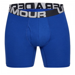 Pánske boxerky UNDER ARMOUR-Charged Cotton 6in 3 Pack-BLU