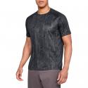 Pánske tréningové tričko s krátkym rukávom UNDER ARMOUR-UA Tech SS Printed 2.0-BLK -