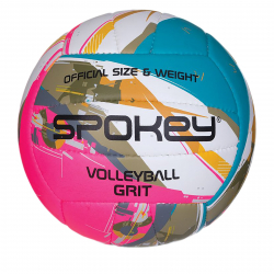 Volejbalová lopta SPOKEY-GRIT Volejbalový míč tyrkysovo-bílo-růžový č.5