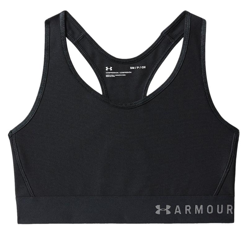 Dámska tréningová športová podprsenka UNDER ARMOUR-Armour Mid Keyhole Bra-BLK -