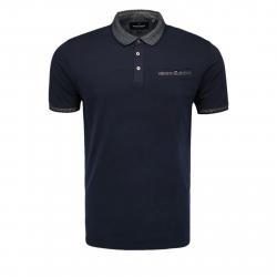 Pánske polo tričko s krátkym rukávom VOLCANO-T-VIB Blue