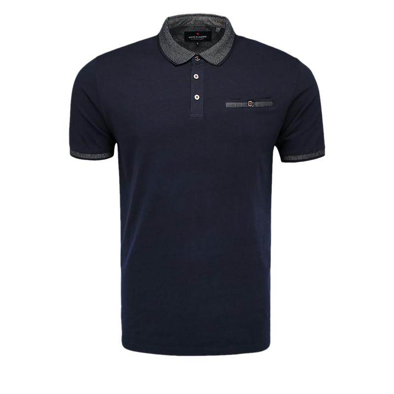 2f151fb72e87 Pánske polo tričko s krátkym rukávom VOLCANO-T-VIB Blue -