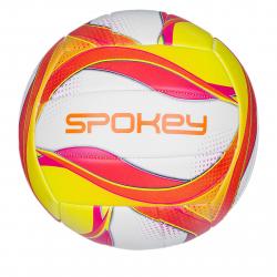 Volejbalová lopta SPOKEY-LAUFER Volejbalový míč bílo-červeno-žlutý rozm.5