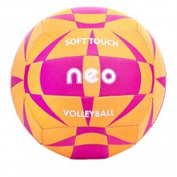 Volejbalová lopta SPOKEY-NEO SOFT neoprenový volejbalový míč oranžovo-růžový