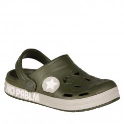 Detské kroksy (rekreačná obuv) COQUI-Froggy army green prblm