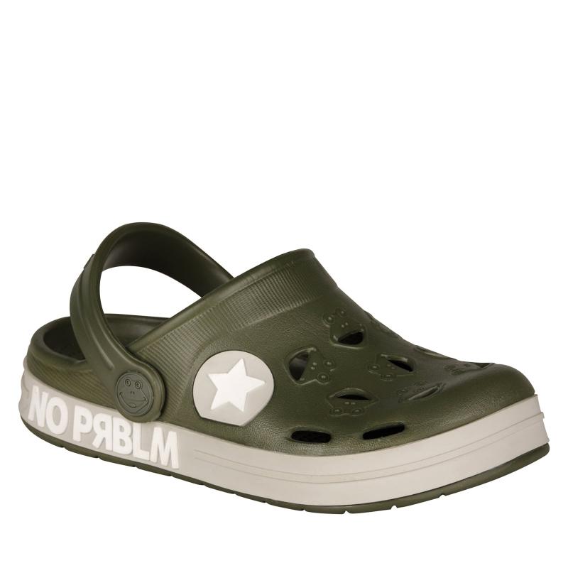 Detské kroksy (rekreačná obuv) COQUI-Froggy army green prblm -