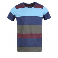 Pánske tričko s krátkym rukávom FUNDANGO-Jaggy Stripe-rock