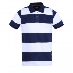 Pánske polo tričko s krátkym rukávom FUNDANGO-Helsem-patriot blue