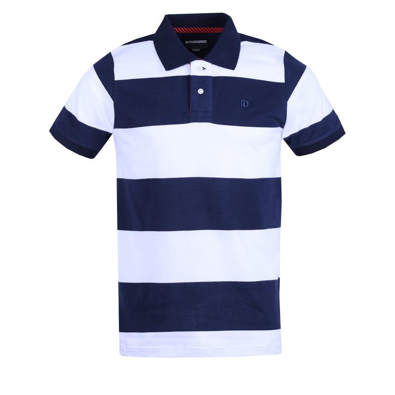 fcc28082fe01 Pánske polo tričko s krátkym rukávom FUNDANGO-Helsem-patriot blue ...