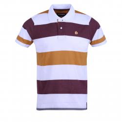 Pánske polo tričko s krátkym rukávom FUNDANGO-Incognito stripe-mustard