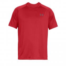 Pánske tréningové tričko s krátkym rukávom UNDER ARMOUR-UA Tech SS Tee 2.0-RED