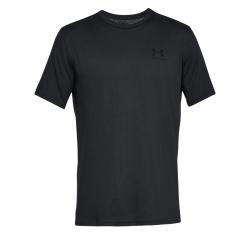 Pánske tréningové tričko s krátkym rukáv UNDER ARMOUR-SPORTSTYLE LEFT CHEST SS-BLK