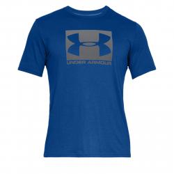 Pánske tréningové tričko s krátkym rukávom UNDER ARMOUR-UA BOXED SPORTSTYLE SS-BLU