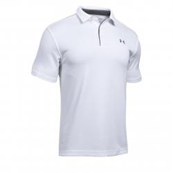 Pánske tréningové polo tričko s krátkym UNDER ARMOUR-Tech Polo-WHT