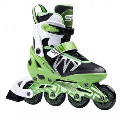 Juniorské kolieskové korčule SPOKEY-SPEEDSTAR regulovatelné, zelené, ABEC9 Carbon