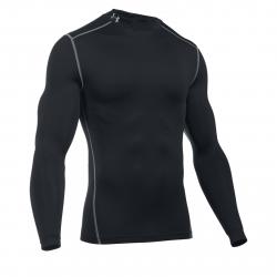 Pánske tréningové tričko s dlhým rukávom UNDER ARMOUR-UA CG ARMOUR MOCK-BLK
