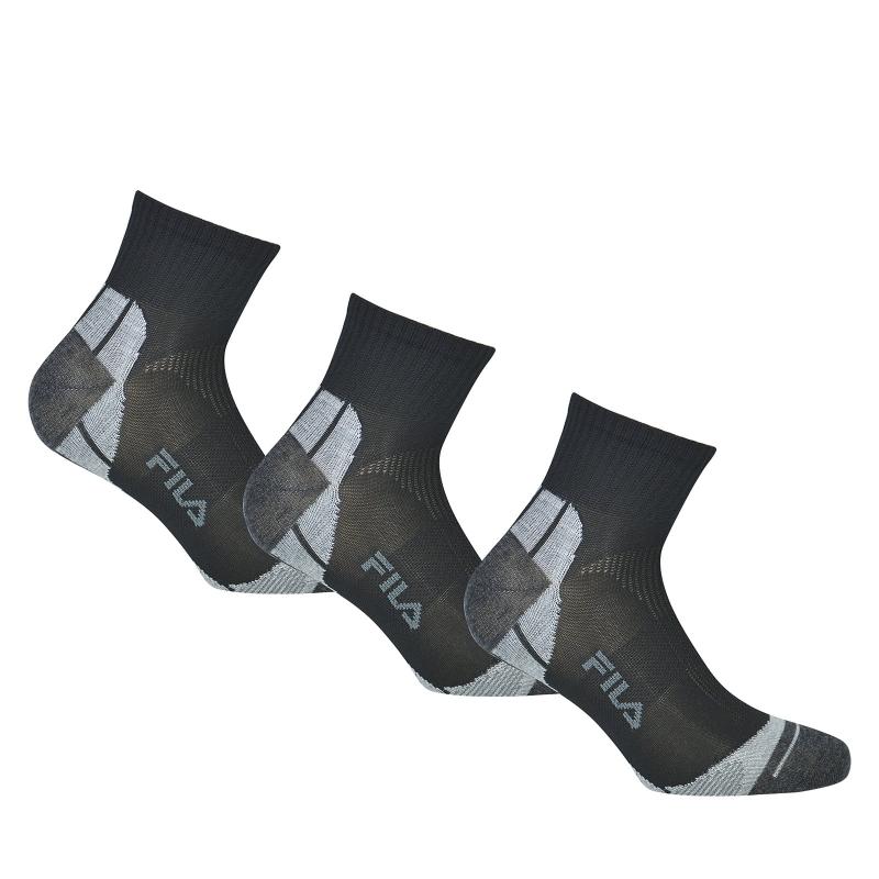 Ponožky FILA-F1615 SOCKS 3-PACK 200-Black -