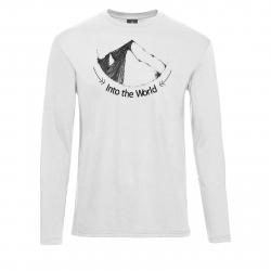 Pánske turistické tričko s dlhým rukávom BERG OUTDOOR-INDUS white