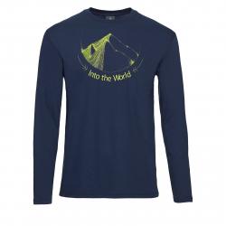 Pánske turistické tričko s dlhým rukávom BERG OUTDOOR-INDUS navy