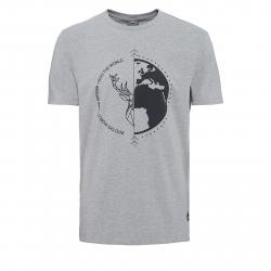 Pánske turistické tričko s krátkym rukáv BERG OUTDOOR-DRACO grey