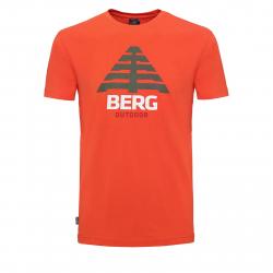 Pánske turistické tričko s krátkym rukáv BERG OUTDOOR-ALCATR red