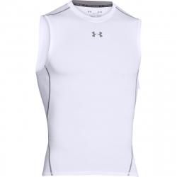 Pánske tréningové tričko bez rukávov UNDER ARMOUR-UA HG ARMOUR SL-WHT