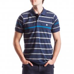Pánske polo tričko s krátkym rukávom FUNDANGO-Pique line-moonlight