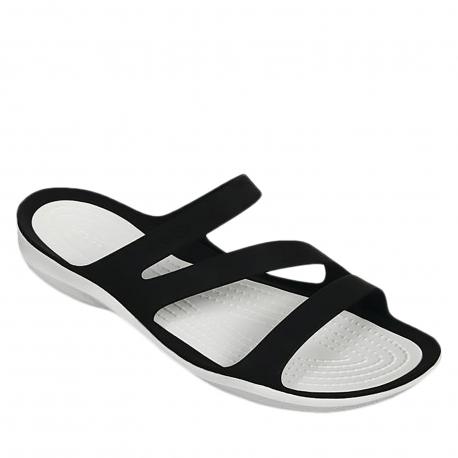 Dámské žabky (plážová obuv) CROCS-Swiftwater Sandal W black / white