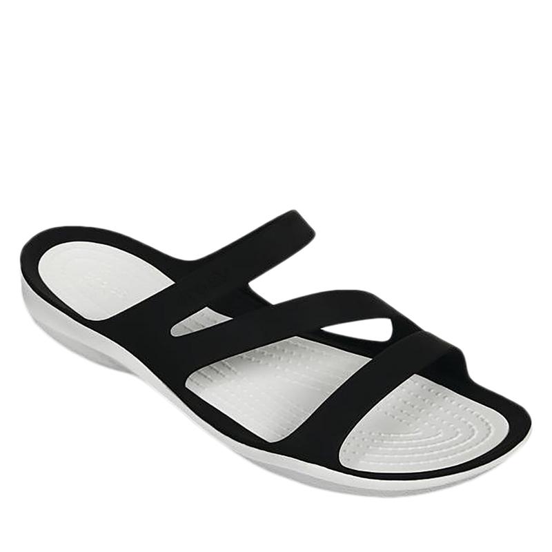 5cc49e957e Dámske žabky CROCS-Swiftwater Sandal W black white