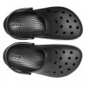 Rekreačná obuv CROCS-Crocband Platform Clog black/white -